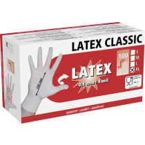 LaTeX disposable gloves, 100 pieces size XL.