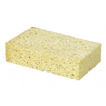 Sponge made of viscose, for wet and dry use