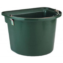 Bucket with metal handle, green
