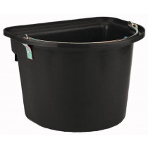 Bucket with metal handle, black