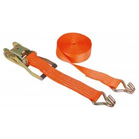 Lashing strap 2-piece 800 x 5 cm orange, 4000 kg