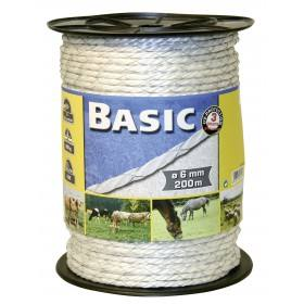 Cord wire 200 m, 6 mm, white, ladder 2 x 0.50 Niro - Kalluri