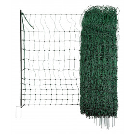Poultry power green, electrically conductive 50 m / 112 cm twin tip