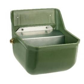 Drinking trough with float valve