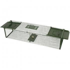Green trap box case, 60 x 17 x 17 cm - with 2 inputs