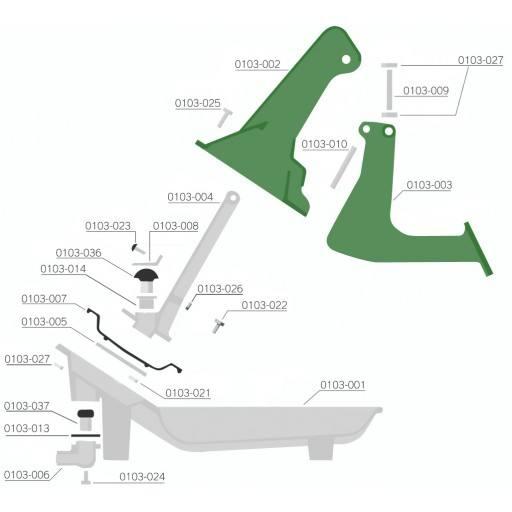 Ventiel kegel Lister L3, boven grote