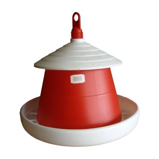 Pluimvee feeder 6 kg rood - oorspronkelijke Klaus
