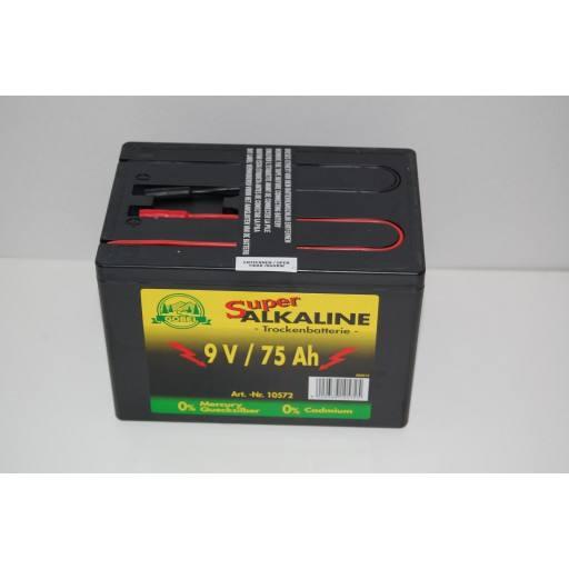Hek batterij 9 volt 75 AH, alkalische