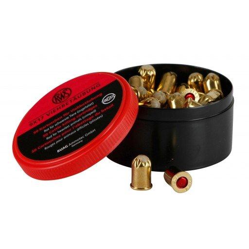 Patronen Kaliber 9 x 17 rot - 50 Stück - Viehbetäubungspatronen - Kartuschen