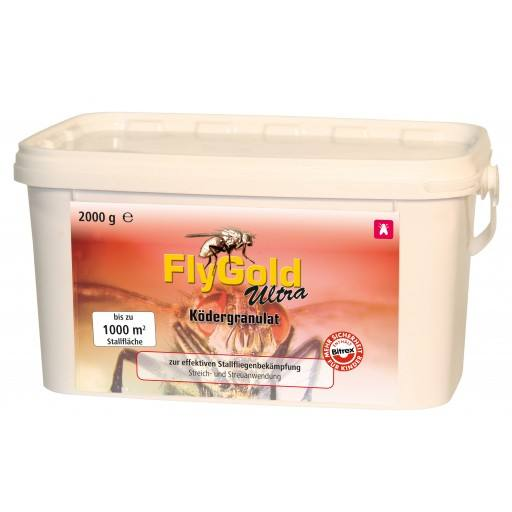 Poison voor vliegen, aas korrels FlyGold Ultra, 2000 g