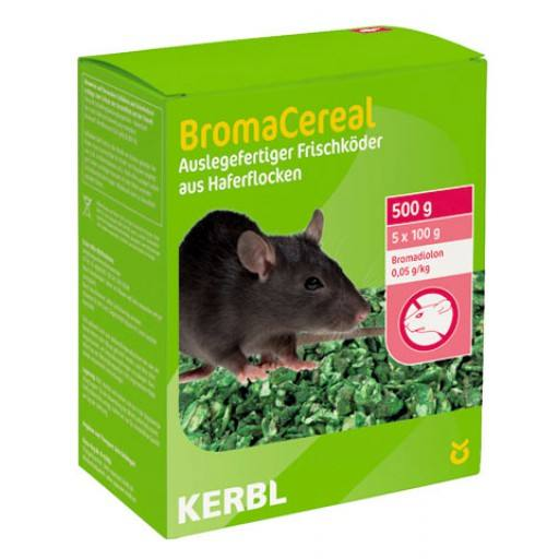 Rat aas BromaCereal 500 g (Bromadiolon)