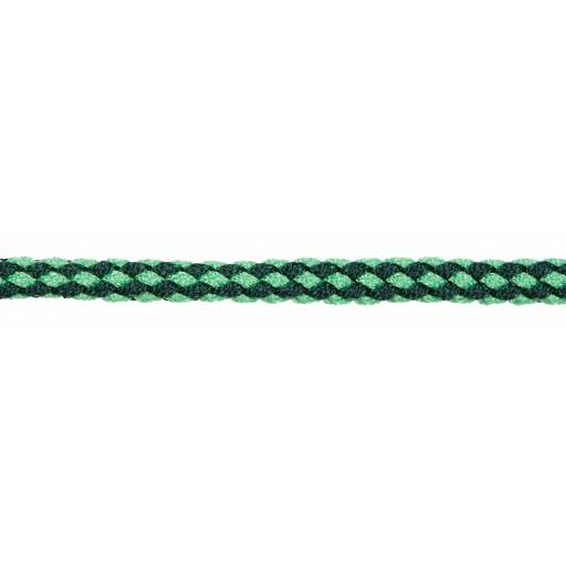 Exclusieve leadrope 200 cm. met paniek haak, donker groen/pastel groen