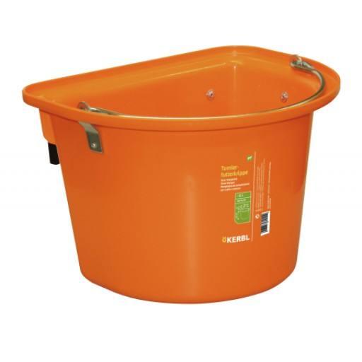 Vervoer wieg met een verkeerd-om ijzer & handvat, oranje
