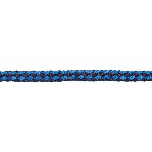 Exclusieve leadrope 200 cm. met paniek haak, Navy/licht blauw