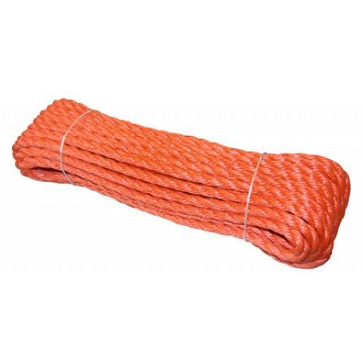Polytouw12 mm, 10 - 30 m Docken Polyethylen (PE) Seil oranje