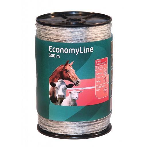 Mono wire 500 m. transparant, 2 x 0.5 mm gegalvaniseerd ijzerdraad