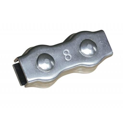 Kabel-aansluiting, roestvrij staal, voor 8 mm rope - 10 Stück / Pack