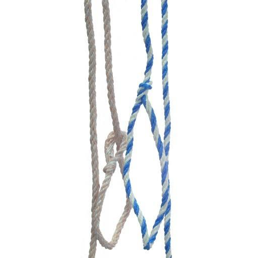 Poly touw 1.60 m, kleine lus, wit