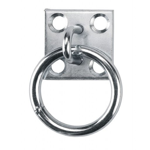 Op bindende ring op plaat, verzinkt