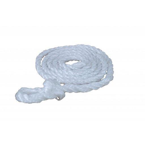 Poly touw 2.00 m, kleine lus, wit
