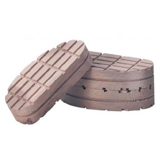 Blok hout, 2 stuks / Pack