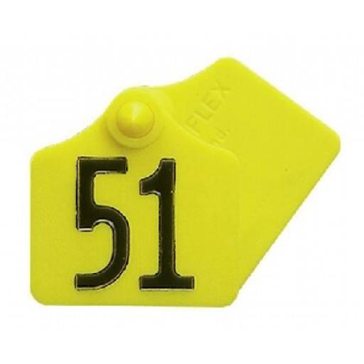 Primaflex oor label maat 1, leeg, geel, rood, groen, blauw, wit (25 stuks per verpakking)