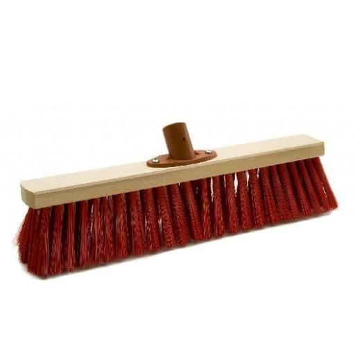 Kamer bezem 40 cm Elaston rood met snelle instellen houder