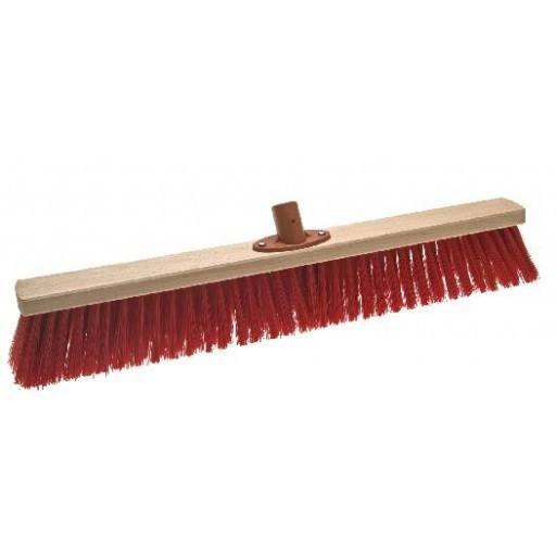 Kamer bezem 60 cm Elaston rood met snelle instellen houder