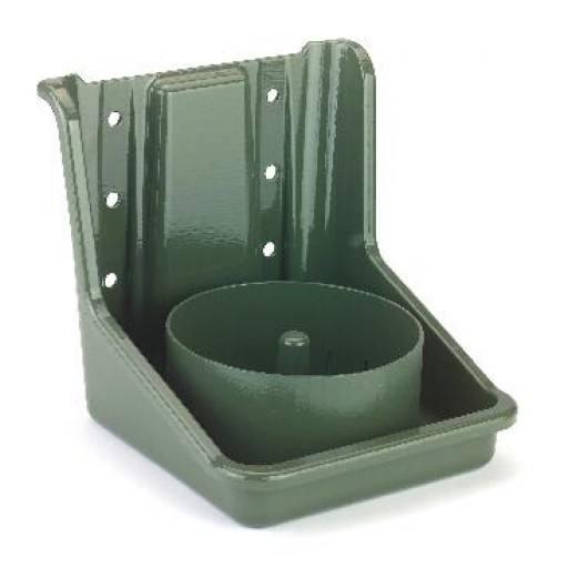 Groene zout lek stenen houder, PVC, met ronde invoegen
