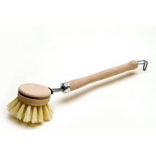 Afwas borstel, houten vezels ronde,
