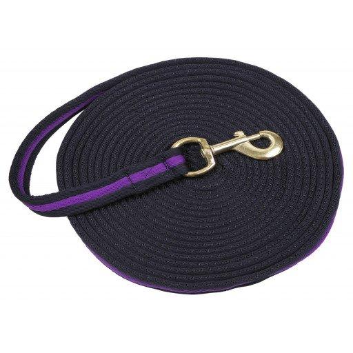 Longierleine Softlonge, 8 m lang verschiedene Farben violett