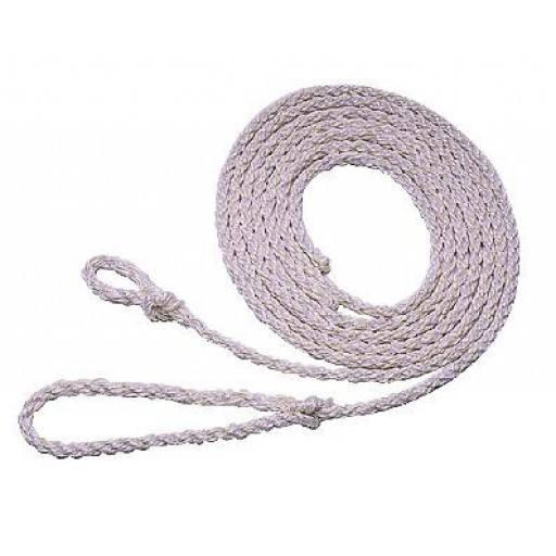 Poly touw 4.00 m, kleine lus, wit
