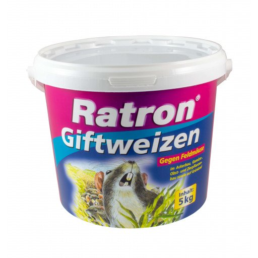 Ratron giftige tarwe, muislokaas en rattenlokaas - 5000 g van Frunol