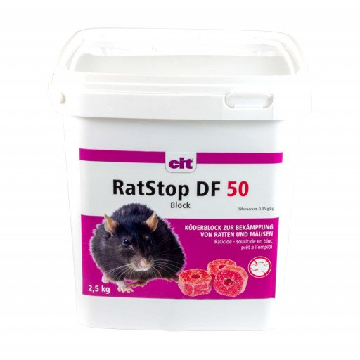 RatStop DF blok aas 2,5kg rattengif