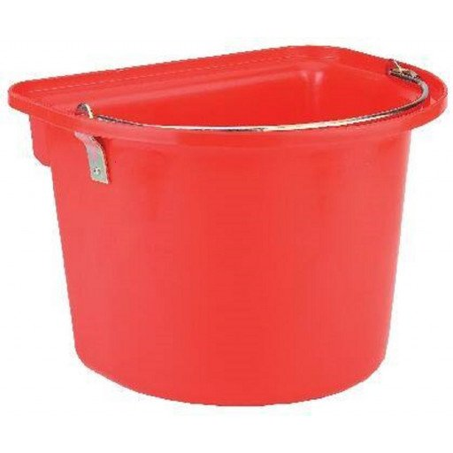 Installeren emmer met metalen handvat, Red