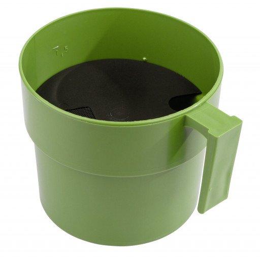 Voordat met het melken van cups