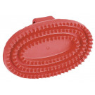 Rubber Striegel junior, ovale, rood