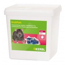 Rattengift BrodiPads Gelpad 2500 g Portion 15 g, Brodifacoum - Köder Ratten Mäuse