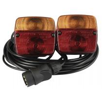 Magnetische aanhangwagen verlichting instellen 2,50/7,50 m kabel