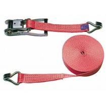 Sjorringen band 2-delige, 8 m x 50 mm, 5000 kg, Red