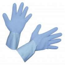 Latex handschoen FleTex, blauw maat geruwd 8-11