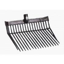 Paard mest vork PVC zonder metalen handvat