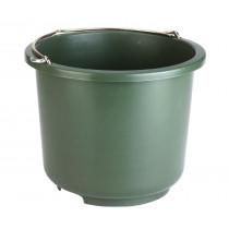 Installeren van emmers en emmers 12 liter olijf groen
