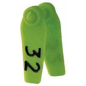 Primaflex oor label grootte 0, leeg, geel, rood, groen, blauw, wit (25 stuks per verpakking)