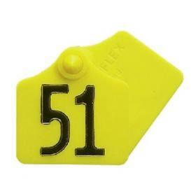 Primaflex oor label maat 1, gevormde, geel, rood, groen, blauw, wit (25 stuks per verpakking)