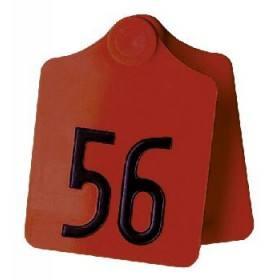 Primaflex oor label grootte 2, gevormde, geel, rood, groen, blauw, wit (25 stuks per verpakking)