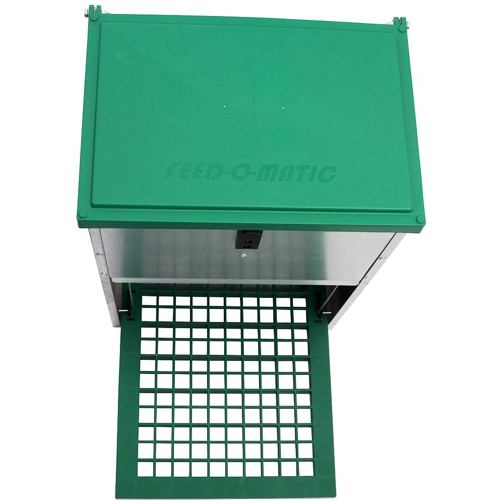 feedomatic futterautomat mit trittklappe 20 kg f r h hner. Black Bedroom Furniture Sets. Home Design Ideas