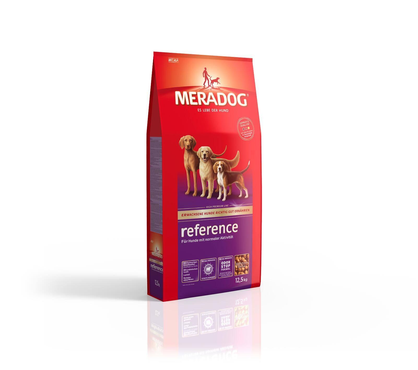 meradog reference 12 5 kg hundefutter f r ausgewachsene. Black Bedroom Furniture Sets. Home Design Ideas
