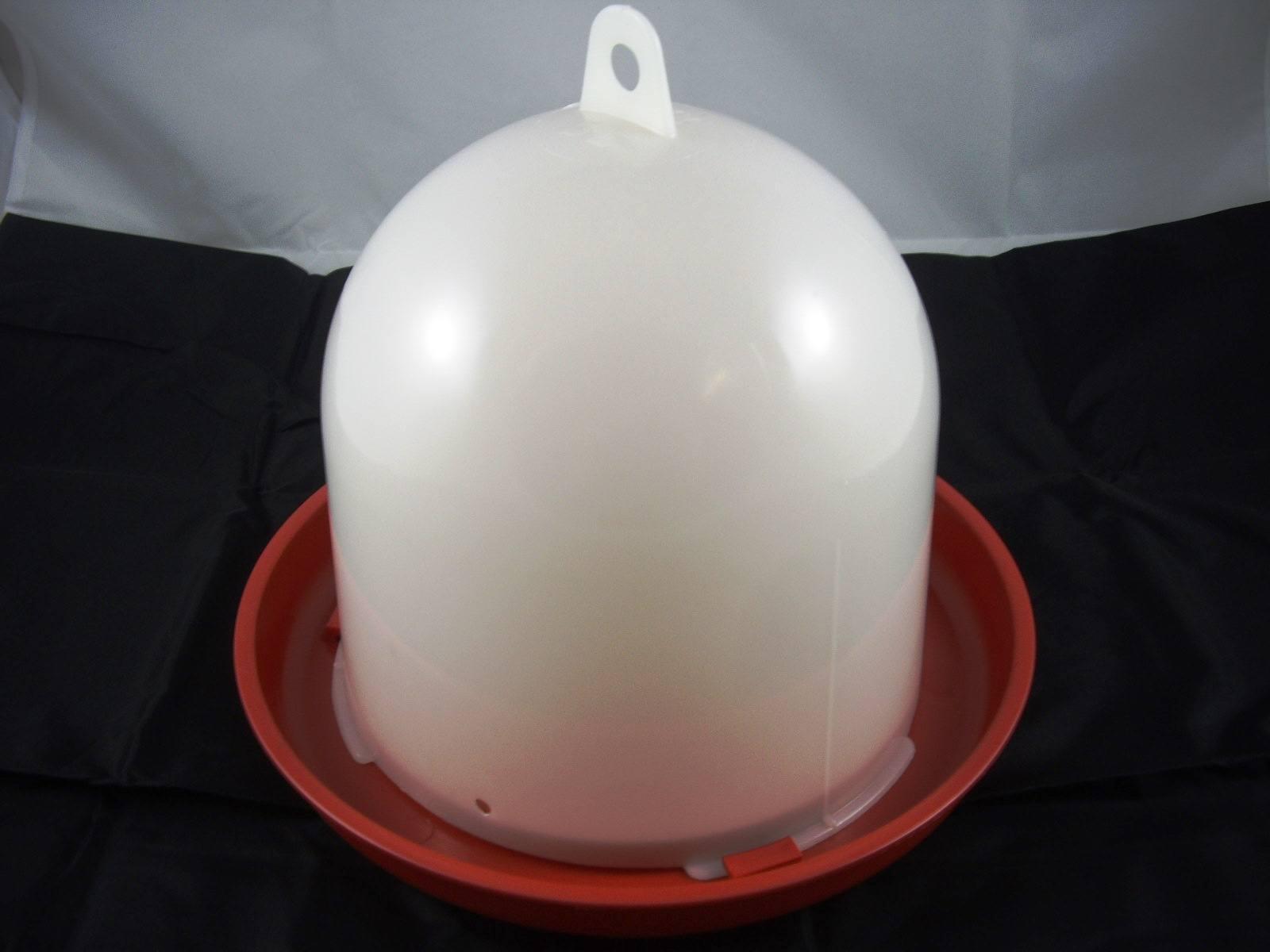 Geflügeltränke 12 l mit Bajonettverschluss rot Hühner Geflügel Tränke