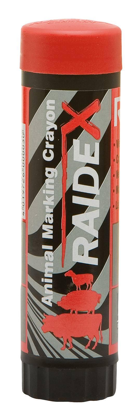 Viehzeichenstift RAIDEX rot 60g für Kühe, Kälber, Schweine etc